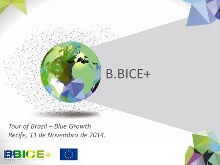 B.BICE+ Tour of Brazil – Blue Growth Recife, 11 de Novembro de 2014.