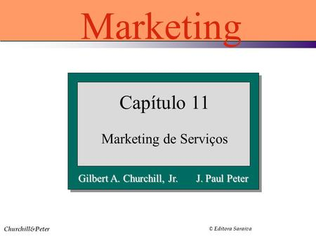 Marketing Capítulo 11 Marketing de Serviços
