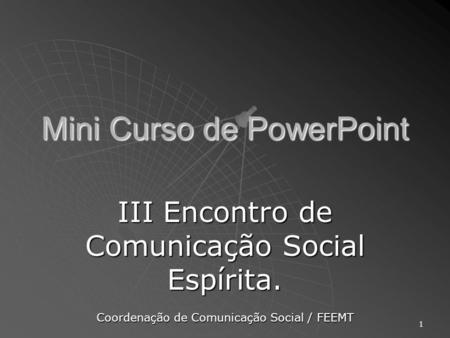 Mini Curso de PowerPoint