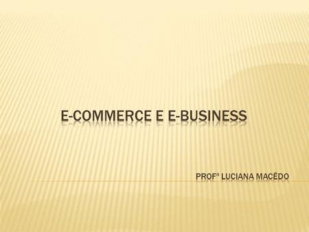 E-commerce e E-business