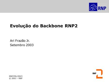 Evolução do Backbone RNP2