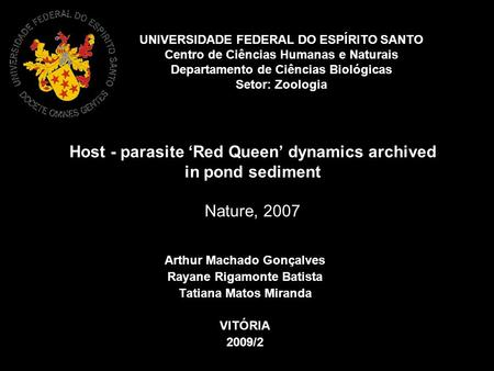 Host - parasite 'Red Queen' dynamics archived in pond sediment