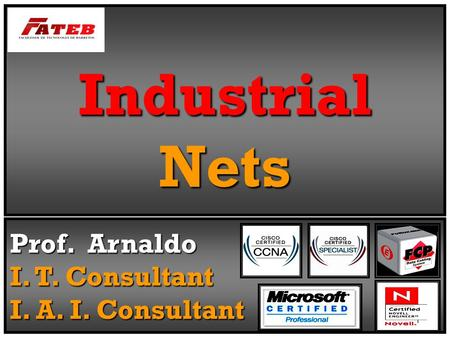 Industrial Nets Prof. Arnaldo I. T. Consultant I. A. I. Consultant.