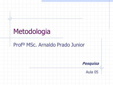 Profº MSc. Arnaldo Prado Junior