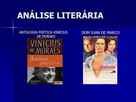 PDF DE MORAES POETICA ANTOLOGIA VINICIUS