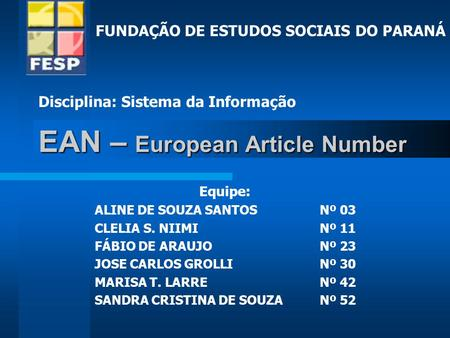 EAN – European Article Number