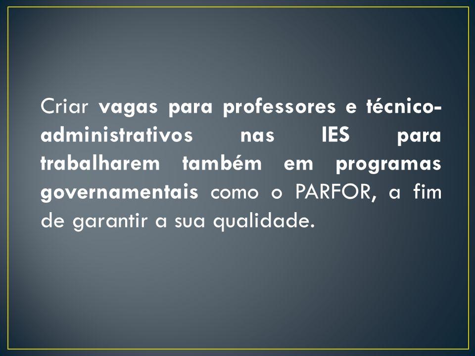 A necessidade de destinação de recursos financeiros para alunos do PARFOR, a fim de custear despesas de deslocamento e alimentação.