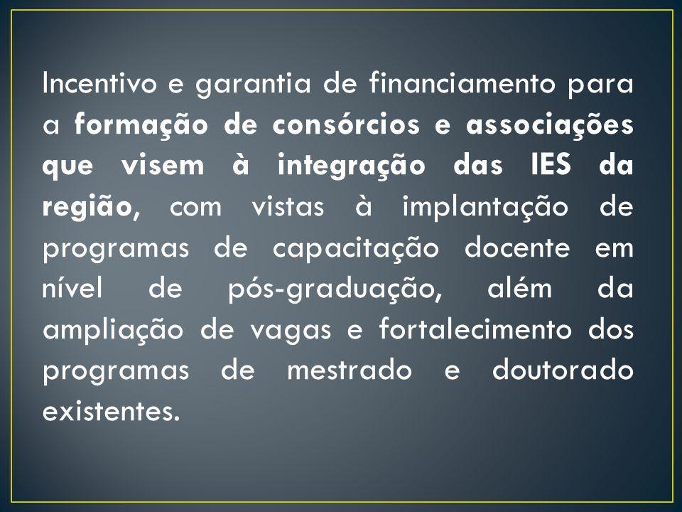 Envolvimento de outros ministérios/órgãos para que ocorra uma efetiva política de desenvolvimento regional, como por exemplo que contribua para a fixação dos servidores e dos discentes das IES nas localidades interioranas e para a consolidação das políticas de expansão.