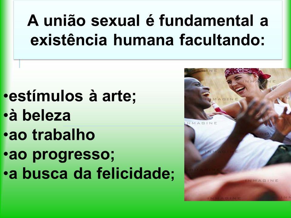 A união sexual é fundamental a existência humana facultando: Reencarnações dos Espíritos; união afetiva;