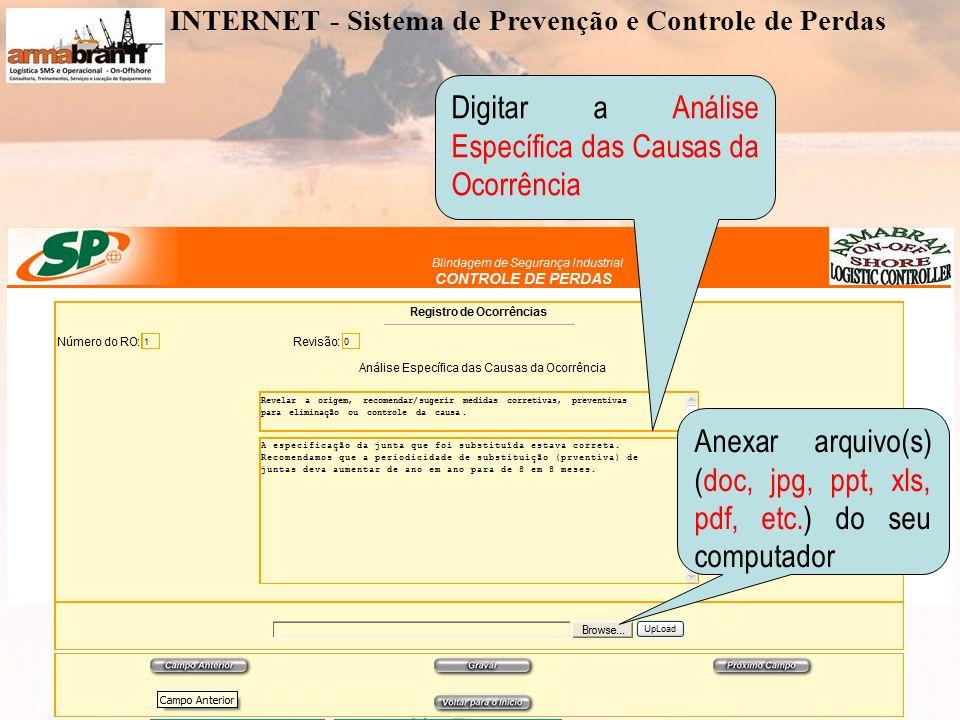 www.armabran.com.brwww.armabran.com.br armabran@armabran.com.br +55 22 7834-2589 ID 24*43943armabran@armabran.com.br Digitar a Atuação Específica nas Causas da Ocorrência Anexar arquivo(s) (doc, jpg, ppt, xls, pdf, etc.) do seu computador INTERNET - Sistema de Prevenção e Controle de Perdas