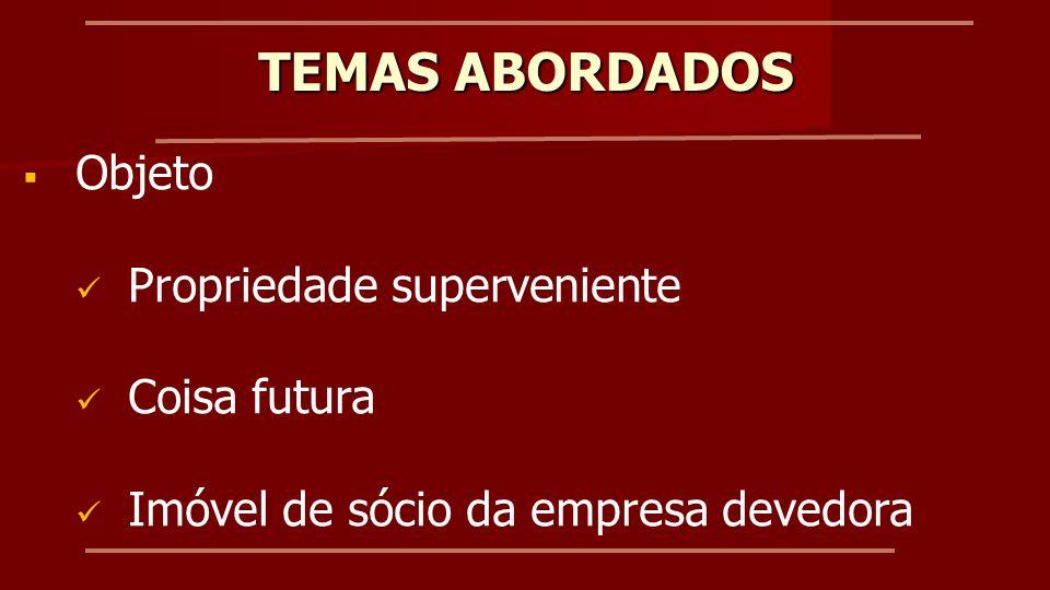 Campo de aplicação Garantia de quaisquer operações de crédito Jurisprudência do Tribunal de Justiça do Paraná TEMAS ABORDADOS