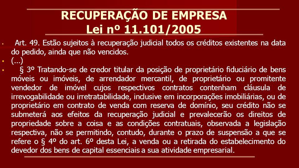 RECUPERAÇÃO JUDICIAL Superior Tribunal de Justiça Recurso Especial 1.263.500-ES, Rel Min.