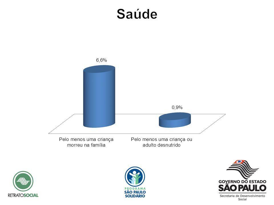 Dos indicadores de padrão de vida, os que mais se destacam, são: ausência de estrutura sanitária adequada (10,8%) e falta de acesso à água potável (9,1%).