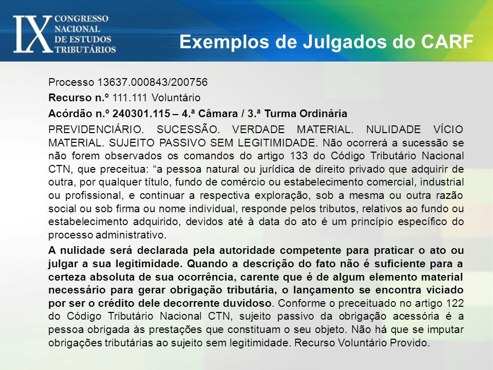 Exemplos de Julgados do CARF Acórdão 3801-001.521 Número do Processo: 10320.001004/2002-16 NULIDADE DE INTIMAÇÃO - PREJUÍZO COMPROVADO - MATÉRIA DE ORDEM PÚBLICA - CONHECIMENTO DE OFÍCIO - REPETIÇÃO DO ATO Deve ser conhecida de ofício ou a requerimento da parte a nulidade da intimação feita irregularmente na qual não esteja permitido amplo direito a defesa, devendo ser repetido o ato.