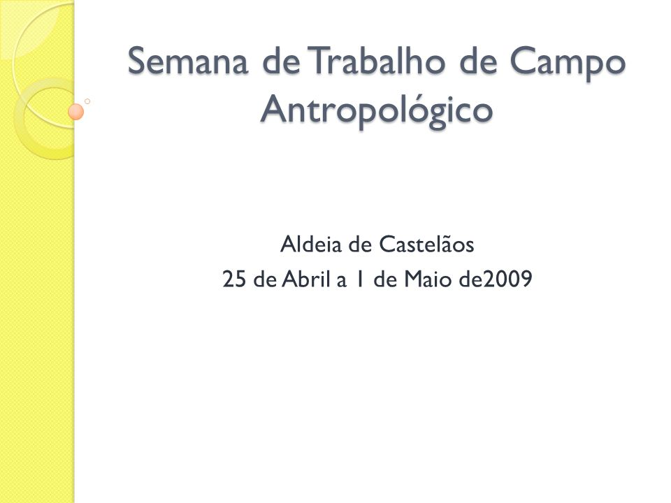 Introdução No âmbito da disciplina de trabalho de campo antropológico foi-nos proposta a elaboração de um projecto de investigação inserido no projecto AQUAS.