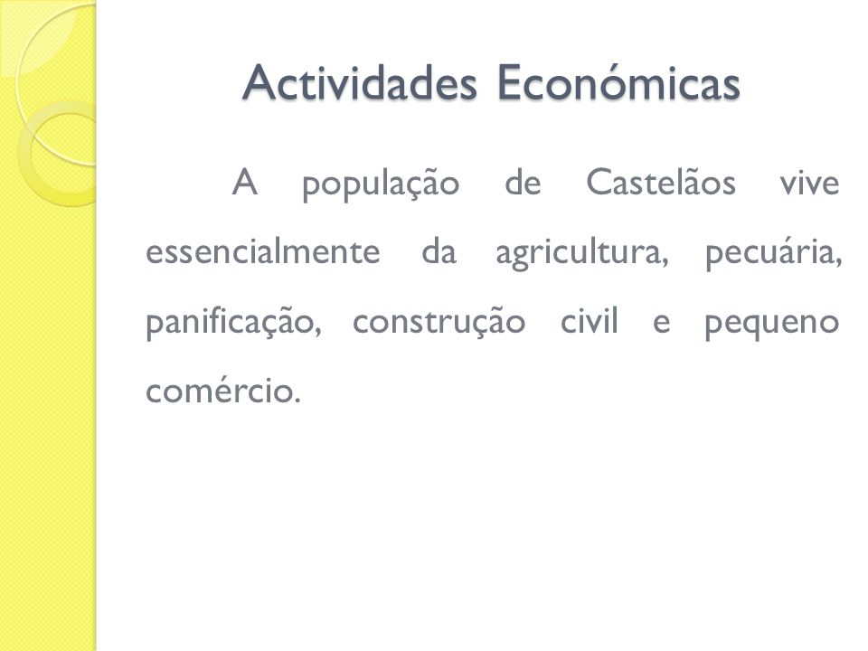 Actividades Económicas Fonte: TCA