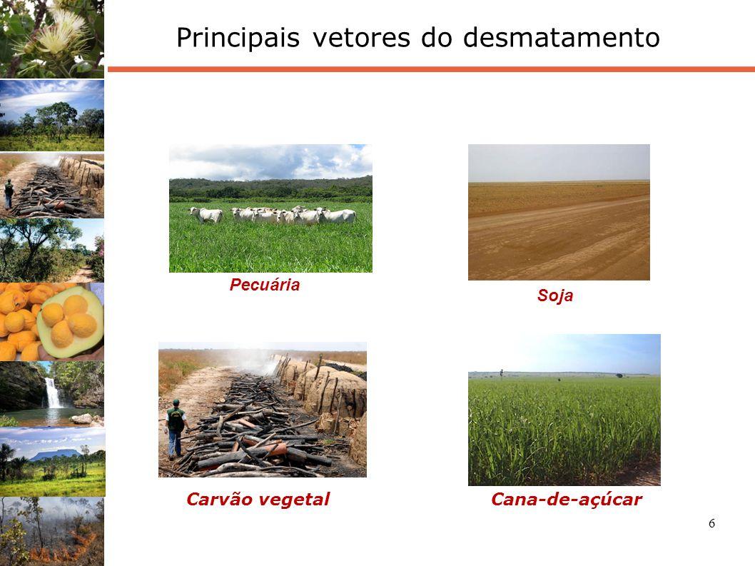 7 Desmatamento entre 2002-2008 Em Unidades de Conservação (estaduais e federais): Proteção integral: 1,22% Uso Sustentável: 3,81% UCs federais: 0,93% Em Terras Indígenas: 0,83% Obs.: Os percentuais representam o desmatamento em cada situação, considerando a área total de UC e TI, não ao bioma.