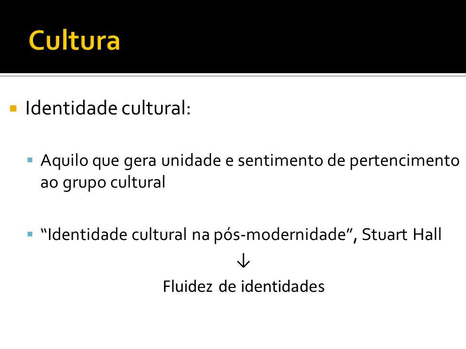 Etnocentrismo: Problema de alteridade (Oposto de identidade) Crença na superioridade da sua cultura sobre as outras Postura que deve ser evitada, já que as culturas são apenas diferentes e não hierarquizadas