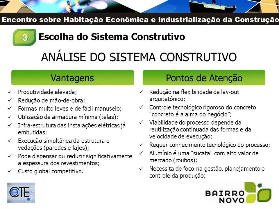 PLANEJAMENTO BAIRRO NOVO PROCESSO INDUSTRIALIZADO COM PRODUTIVIDADE ELEVADA EXECUÇÃO CONTÍNUA E REPETITIVA (Curva de Aprendizagem Acelerada) RITMO ACELERADO (Velocidade de Execução e Prazo Total) REDUÇÃO DE MÃO-DE-OBRA PROJETO OTIMIZADO E RACIONALIZADO (Ausencia de Alvenarias, Instalações Hidro- Sanitárias Aparentes, Instalções Elétricas Embutidas e Revestimentos Racionalizados) FOCO NA GESTÃO, PLANEJAMENTO E CONTROLE DOS PROCESSOS Processo Construtivo