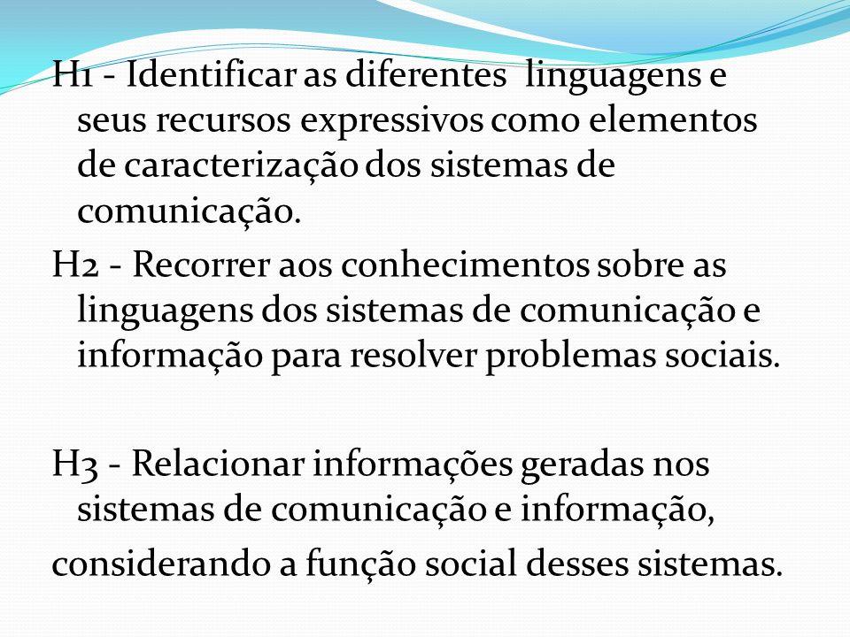 H4 - Reconhecer posições críticas aos usos sociais que são feitos das linguagens e dos sistemas de comunicação e informação.