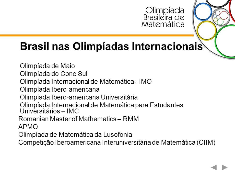 Olimpíada de Matemática de Maio É uma competição realizada para jovens alunos, disputada em dois níveis; Nível 1 para alunos até 13 anos e Nível 2 para alunos até 15 anos.
