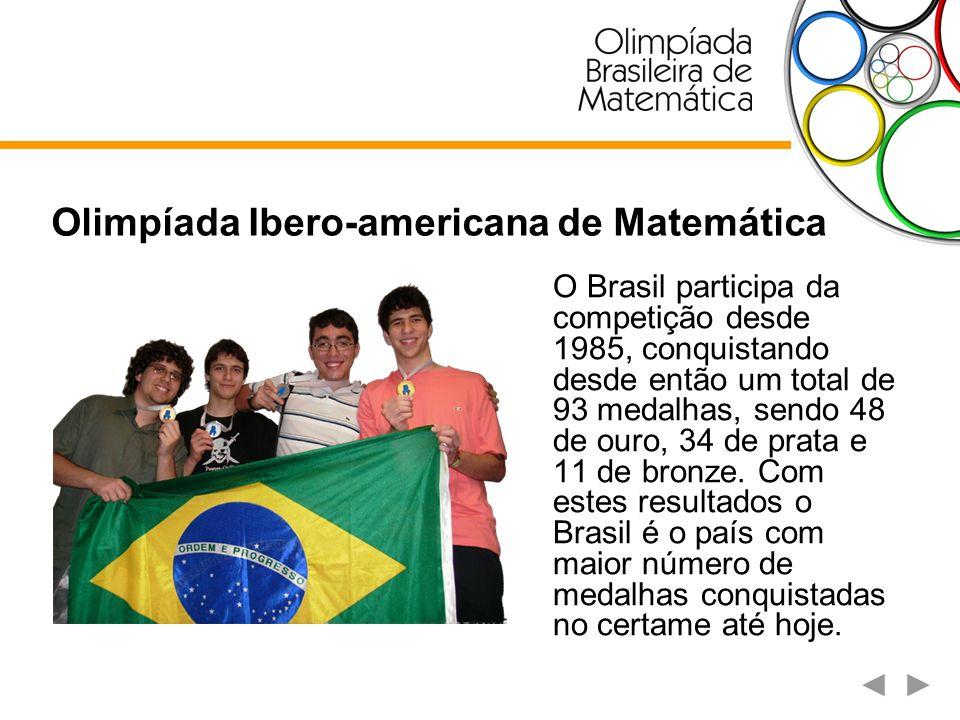Olimpíada Internacional de Matemática Universitária - IMC Em 2003 o Brasil participou pela primeira vez da IMC.