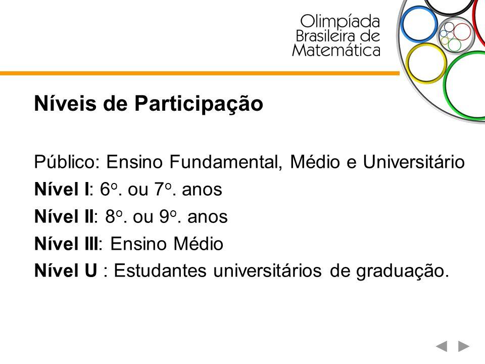 Estrutura de Organização Comissão Nacional de Olimpíadas de Matemática Coordenador Acadêmico Comissão Júnior Coordenador Geral Secretaria da OBM Coordenador Financeiro