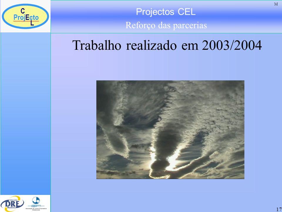 Projectos CEL Reforço das parcerias 18 Objectivos do Projecto CEL: -Preparar e formar para a mudança de atitude em relação ao trabalho.