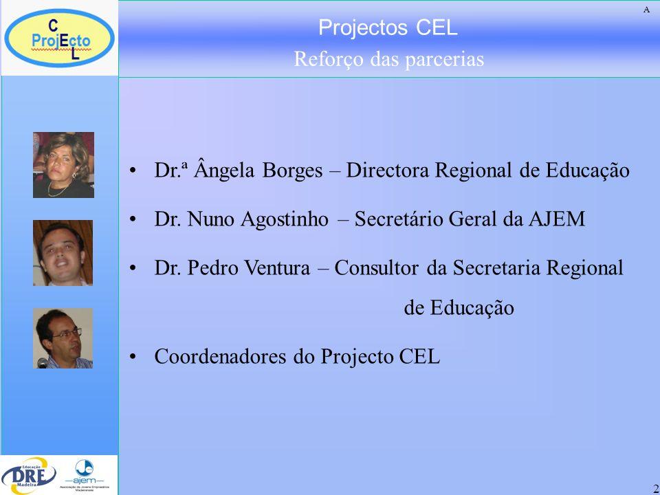 Projectos CEL Reforço das parcerias 3 A importância e oportunidade da Área de Projecto.