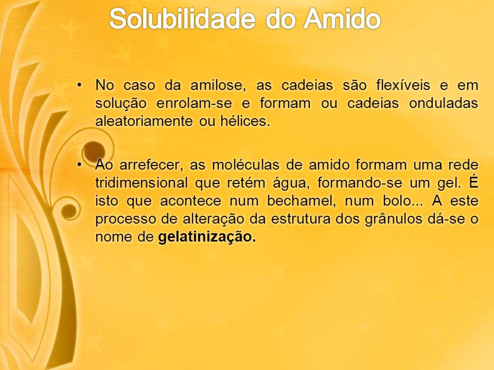 O amido cozido, gelatinizado já é utilizável pelo aparelho digestivo do homem e dos animais, o que significa que passa a ser digerível.