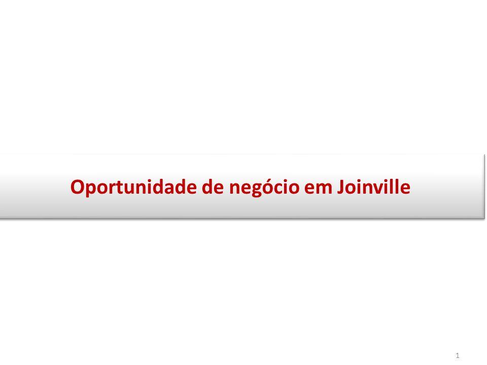 Apresentação do estudo de viabilidade A apresentação a seguir visa oferecer uma excelente oportunidade de negócio imobiliário na cidade de Joinville.