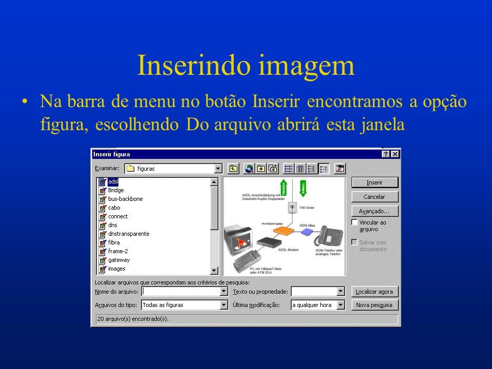 Barra de figura Inserir figura Controle de imagem Mais contraste Menos contraste Mais brilho Menos brilho Cortar Estilo da linha Recolorir a figura Formatar caixa de texto Definir cor transparente Redefinir figura