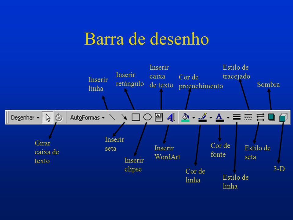 Aplicar estrutura Selecionando o ícone Aplicar estrutura se abrirá uma janela onde são encontradas várias estrutura já prontas que podem ser aplicadas a apresentação