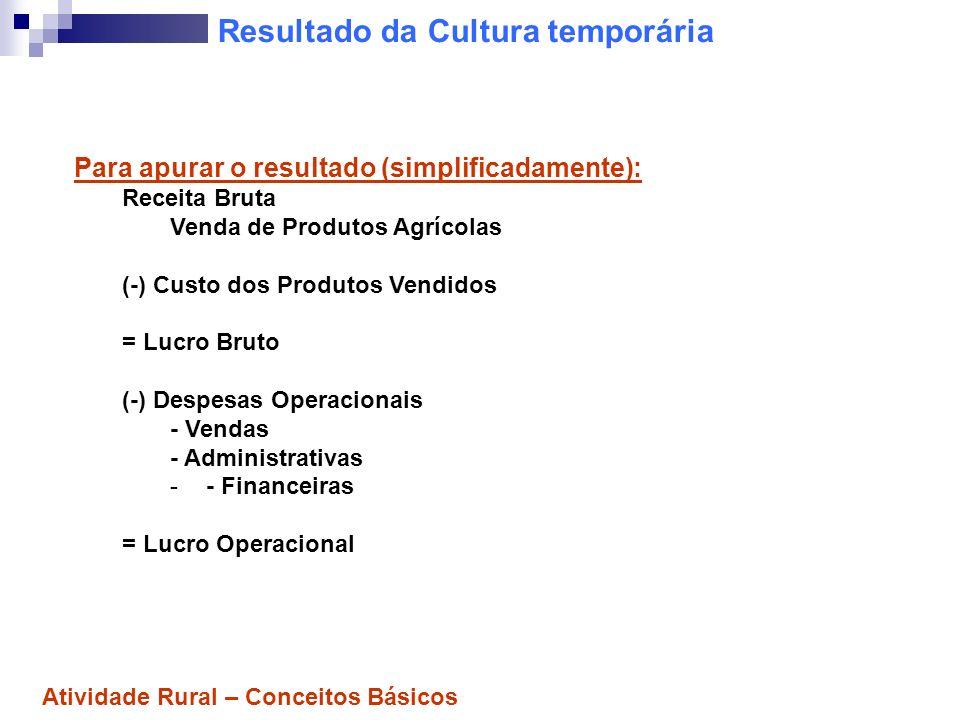 Cultura temporária: Ex.de contabilização 1º Exemplo: A Cia.
