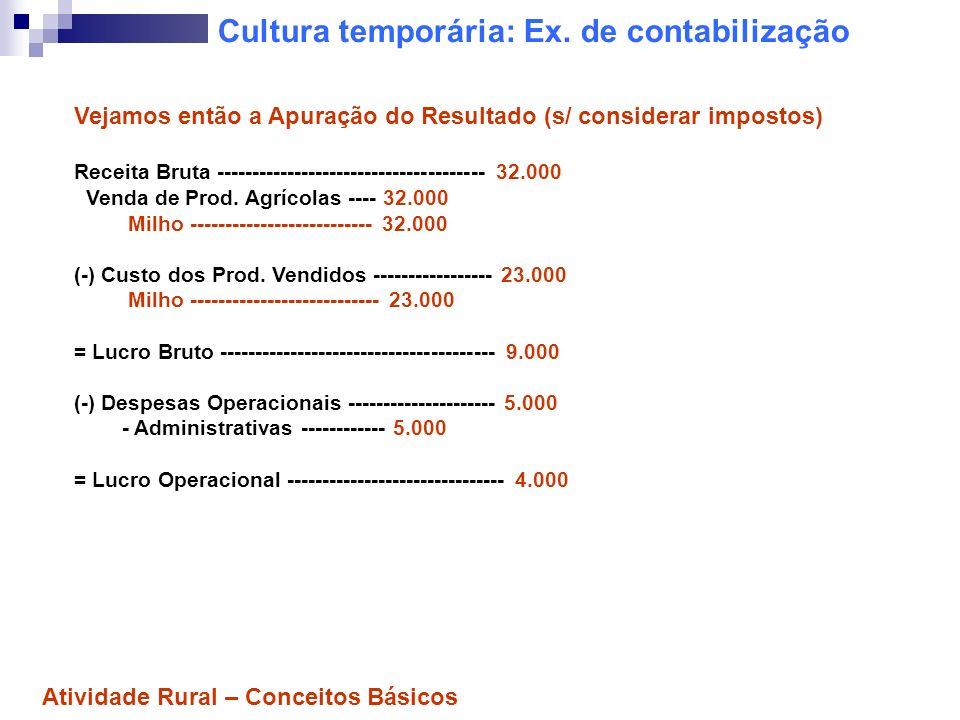 Cultura temporária: Ex.