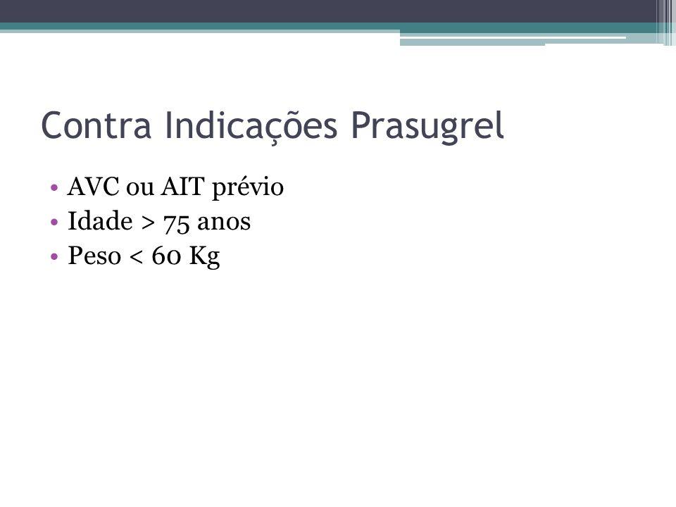 Inibidor GP IIb / IIIa No momento da PCI pode ser considerado individualmente quando houver grande carga de trombo ou inadequada ação do antagonista do receptor de carga P2Y12