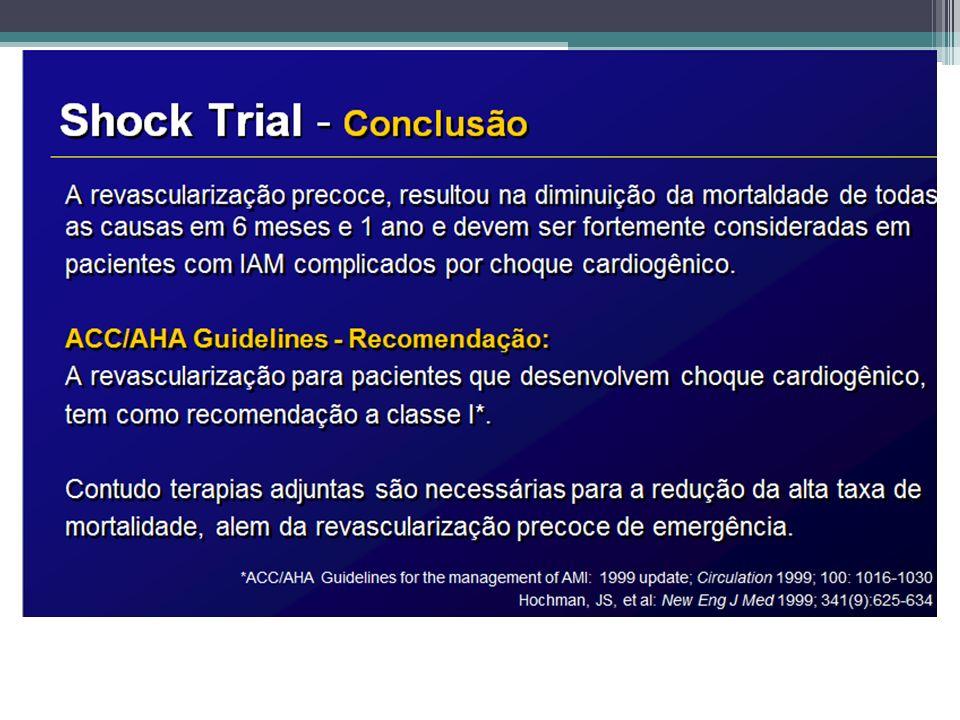 Angiografia coronária em pacientes que Inicialmente foram tratados com terapia fibrinolítica ou que não receberam reperfusão (recomendações)