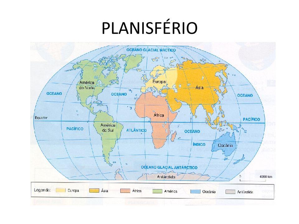 Questões: Quais são os continentes existentes no planeta Terra.