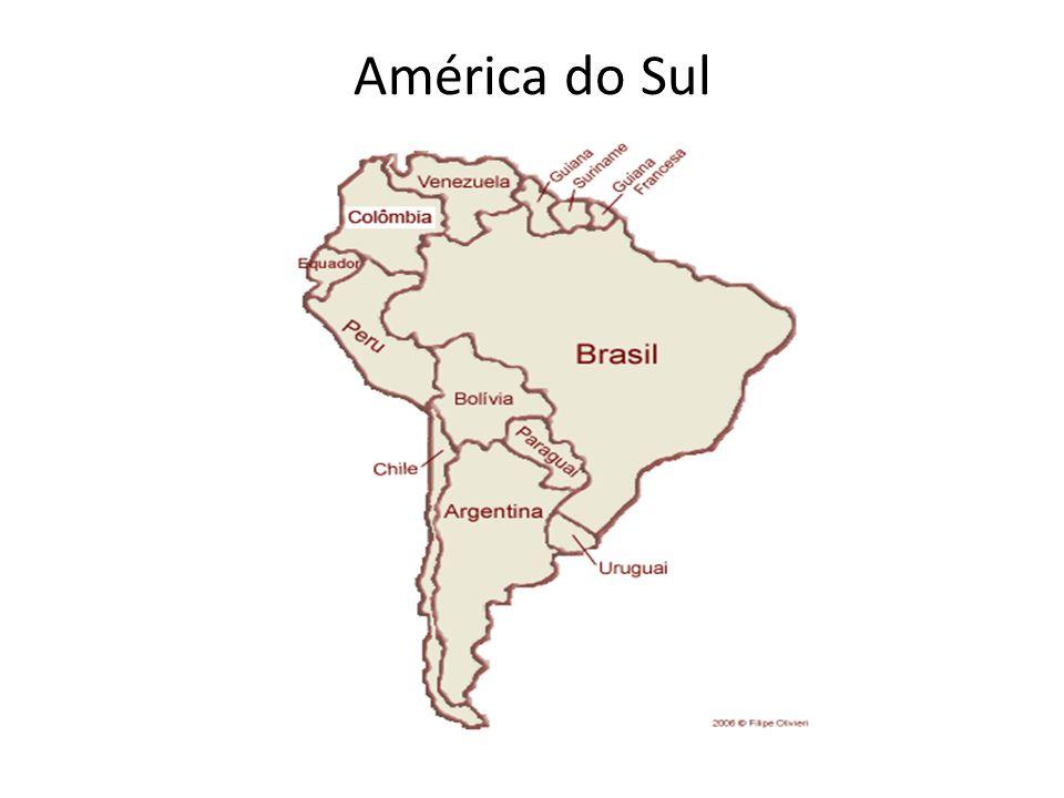 Questões: Que países fazem fronteira com o Brasil.