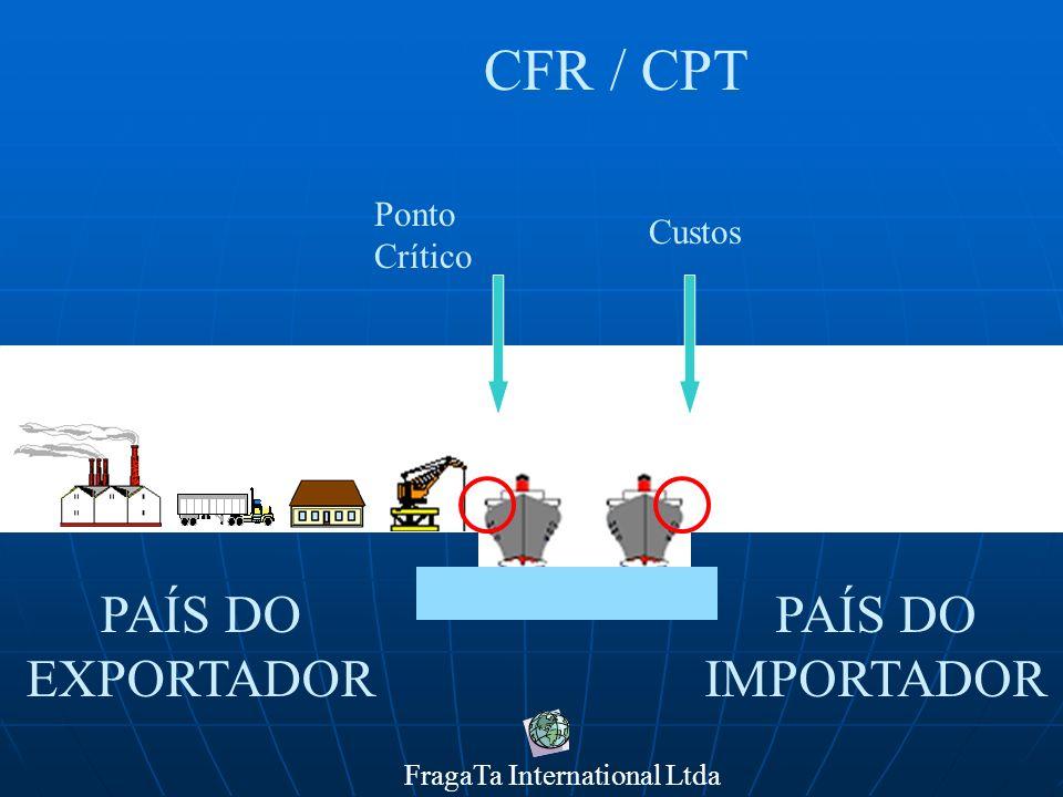 FragaTa International Ltda PAÍS DO IMPORTADOR PAÍS DO EXPORTADOR CIF / CIP Ponto Crítico Custos