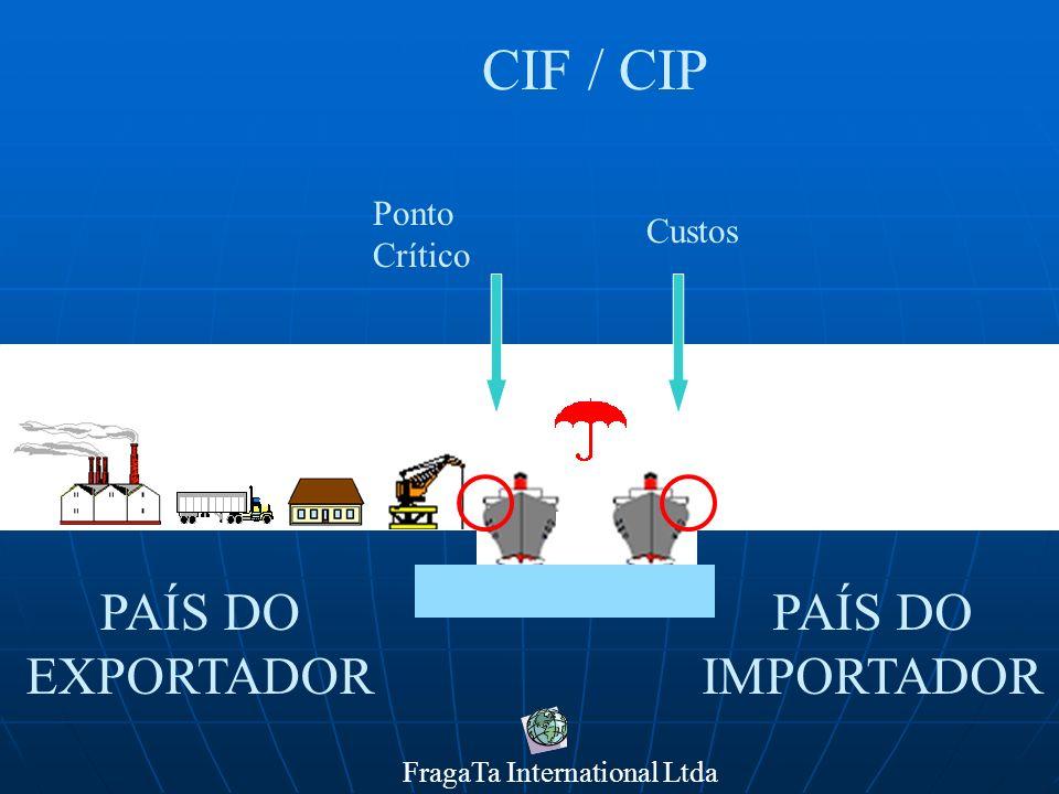 FragaTa International Ltda PAÍS DO IMPORTADOR PAÍS DO EXPORTADOR DAF Ponto Crítico Custos