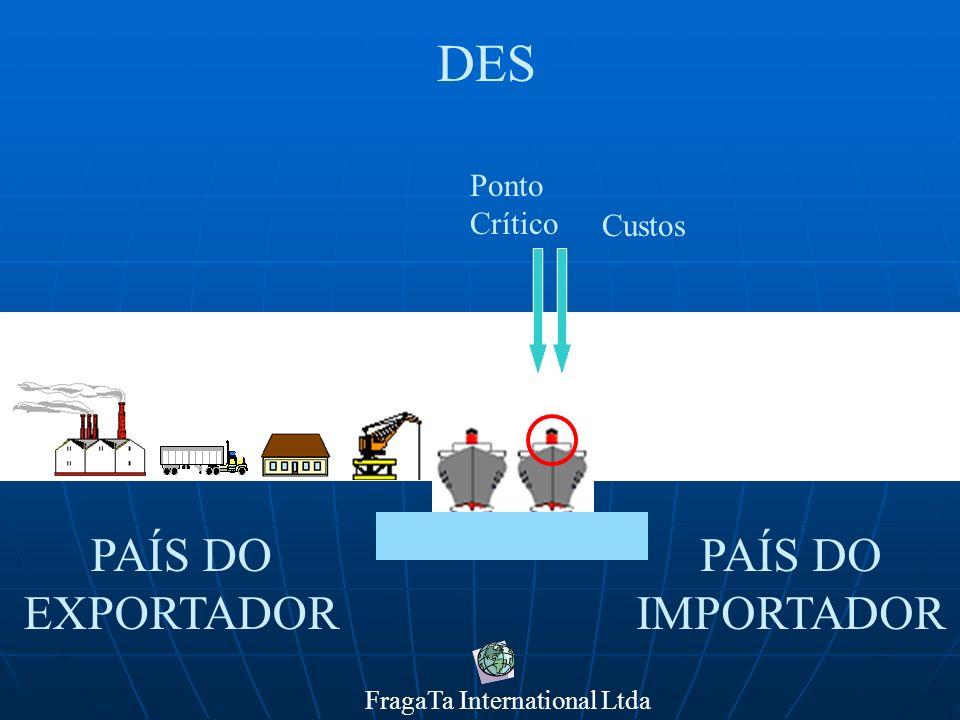 FragaTa International Ltda PAÍS DO IMPORTADOR PAÍS DO EXPORTADOR DEQ Custos Ponto Crítico
