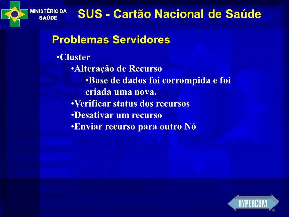MINISTÉRIO DA SAÚDE SUS - Cartão Nacional de Saúde Nobreaks
