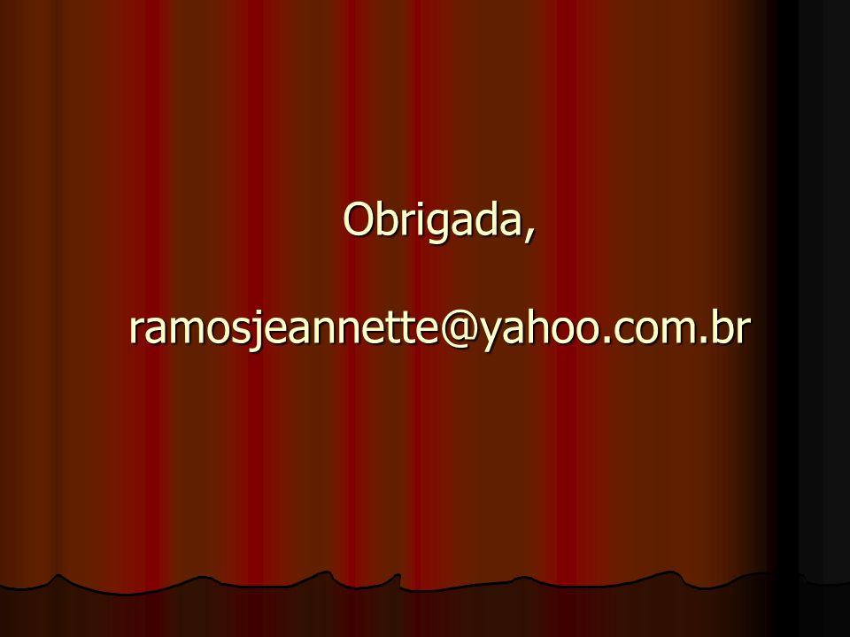 Referências RAMOS, Jeannette Filomeno Pouchain.
