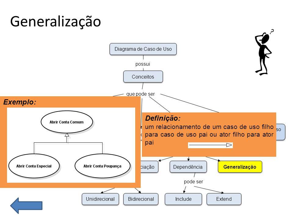 O Que é Caso de Uso Generalização.