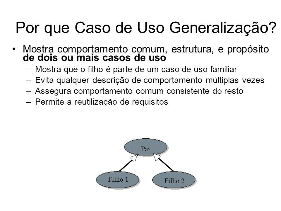 O Que é Generalização de Ator.