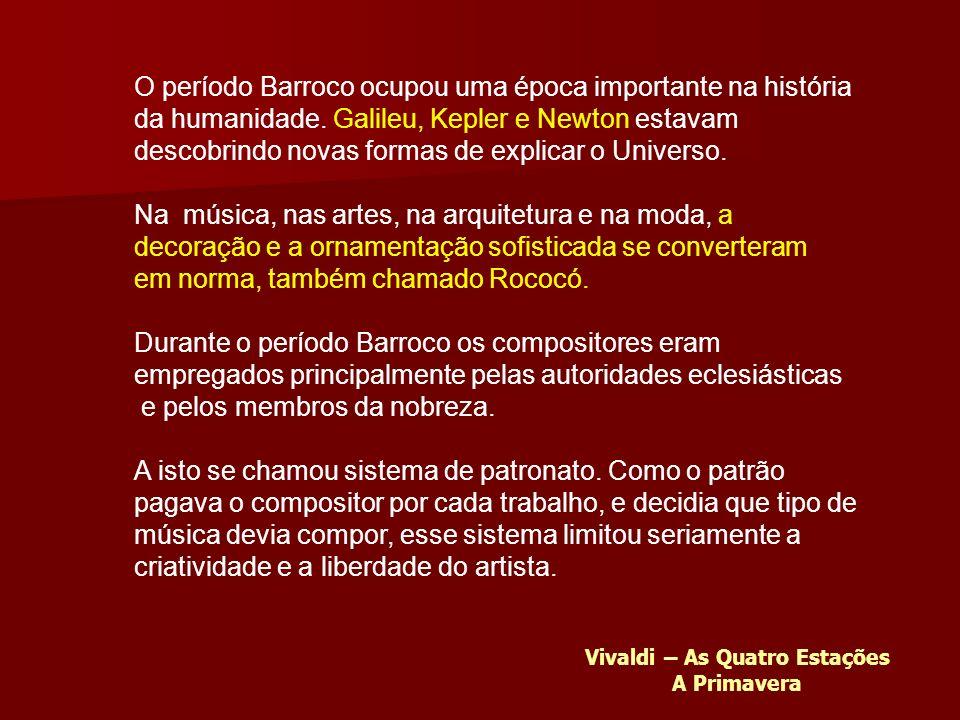 O período Barroco ocupou uma época importante na história da humanidade.