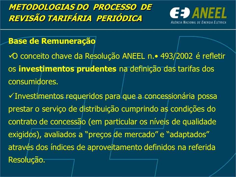 Base de Remuneração Base de Remuneração Bruta R$ 703.786.411,00 Base de Remuneração Líquida R$ 330.306.446,00 METODOLOGIAS DO PROCESSO DE REVISÃO TARIFÁRIA PERIÓDICA METODOLOGIAS DO PROCESSO DE REVISÃO TARIFÁRIA PERIÓDICA