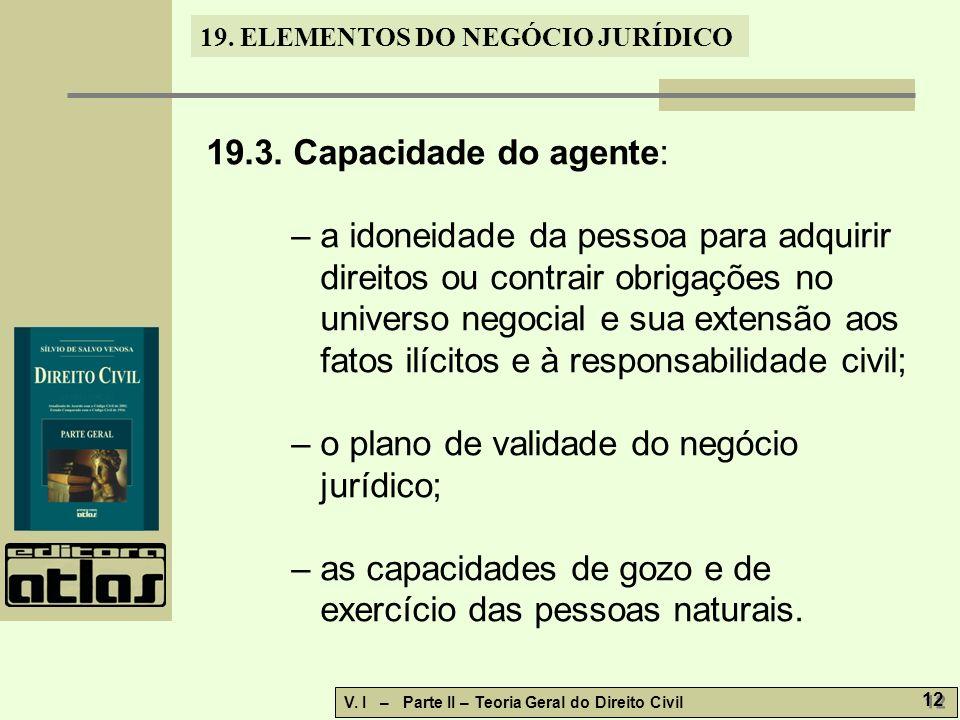 19.ELEMENTOS DO NEGÓCIO JURÍDICO V. I – Parte II – Teoria Geral do Direito Civil 13 19.3.1.