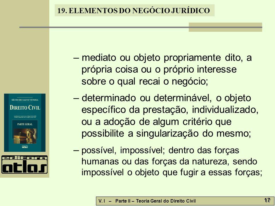 19.ELEMENTOS DO NEGÓCIO JURÍDICO V.